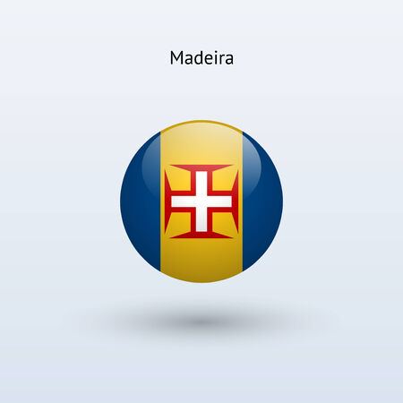 madeira: Madeira round flag  Vector illustration  Illustration