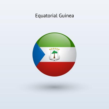 guinea equatoriale: Guinea Equatoriale rotonda di bandiera Vector illustration