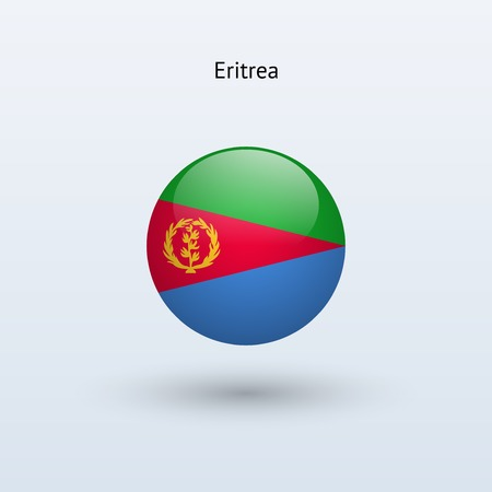 eritrea: Eritrea round flag  Vector illustration