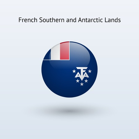 antarctic: French Southern and Antarctic Lands round flag