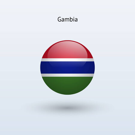 gambia: Gambia round flag  Vector illustration