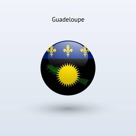 guadeloupe: Guadeloupe round flag  Vector illustration  Illustration
