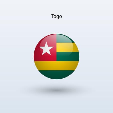 togo: Togo round flag  Vector illustration