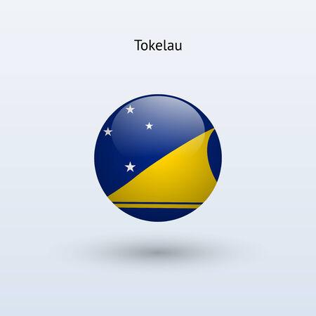 tokelau: Tokelau round flag  Vector illustration