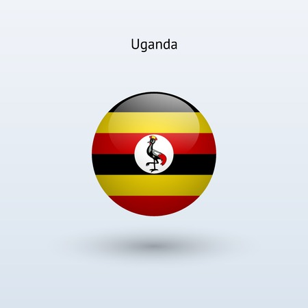uganda: Uganda round flag  Vector illustration  Illustration