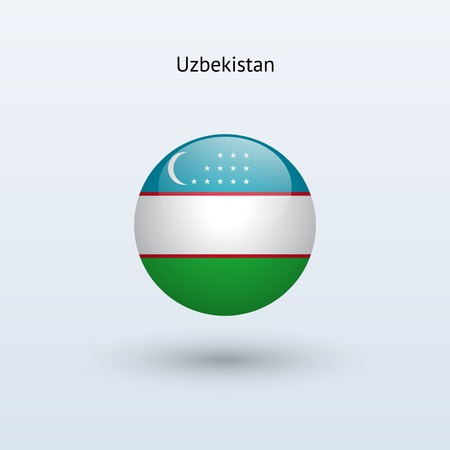 uzbekistan: Uzbekistan round flag  Vector illustration  Illustration