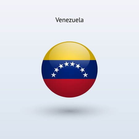 Venezuela round flag  Vector illustration  Vector