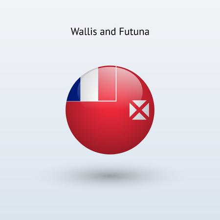 wallis: Wallis and Futuna round flag  Vector illustration  Illustration