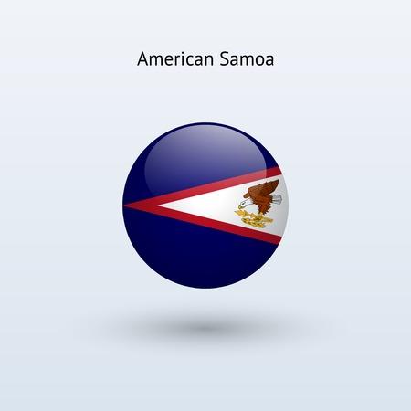 samoa: American Samoa round flag  Vector illustration  Illustration
