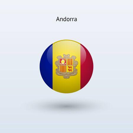 andorra: Andorra round flag  Vector illustration  Illustration