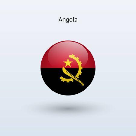angola: Angola round flag  Vector illustration  Illustration