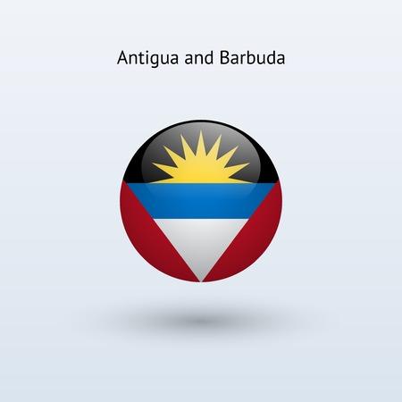 antigua and barbuda: Antigua and Barbuda round flag