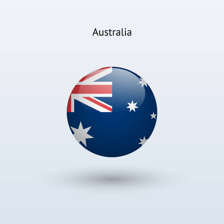flag australia: Australia round flag  Vector illustration  Illustration
