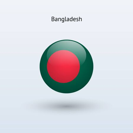 bangladesh: Bangladesh round flag  Vector illustration