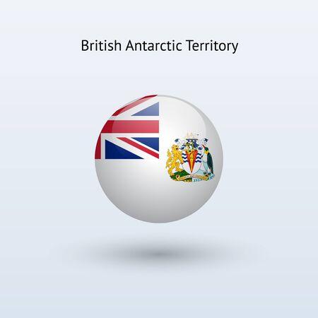 antarctic: British Antarctic Territory round flag  Vector illustration  Illustration