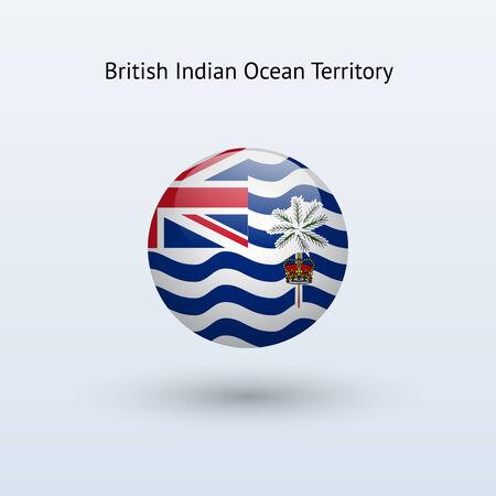 indian ocean: British Indian Ocean Territory round flag