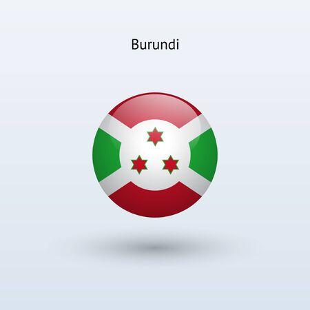 burundi: Burundi round flag  Vector illustration