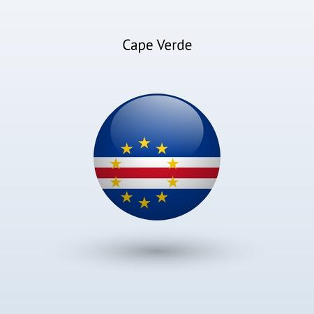 cape verde: Cape Verde round flag  Vector illustration