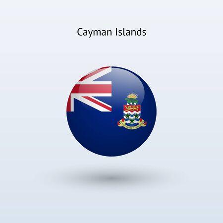 cayman: Tour des Iles Cayman drapeau Vector illustration