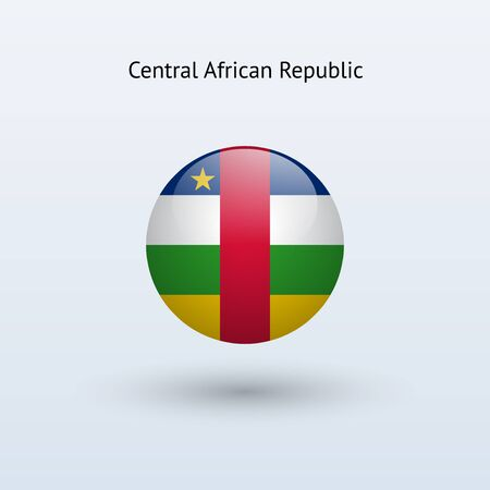 central african republic: Central African Republic round flag  Illustration