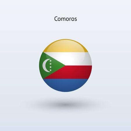 comoros: Comoros round flag  Vector illustration
