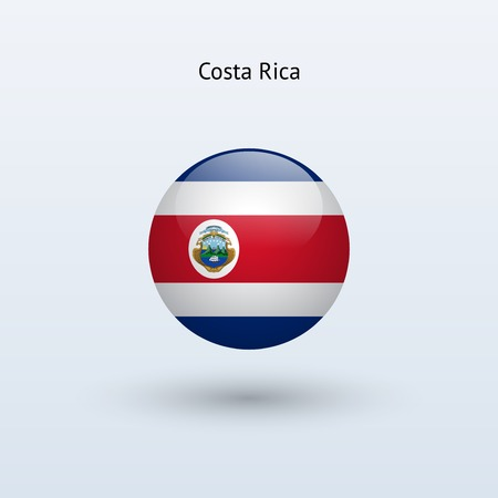 Costa Rica round flag  Vector illustration  Illustration