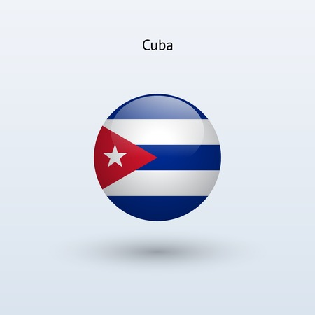 Cuba round flag  Vector illustration  Vector