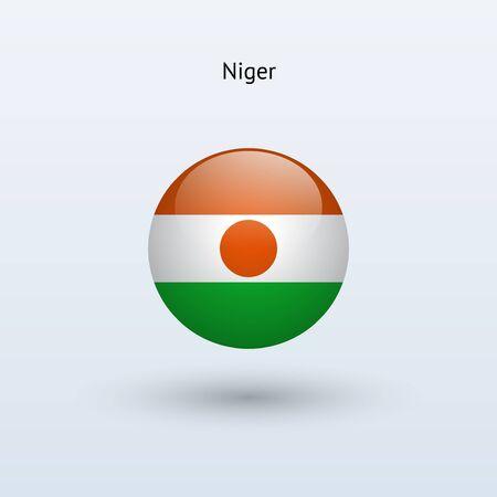 niger: Niger round flag  Vector illustration