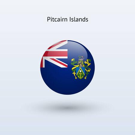 pitcairn: Pitcairn Islands round flag  Vector illustration