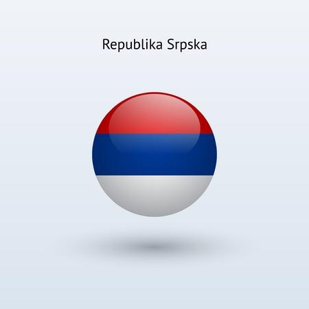 republika: Republika Srpska round flag  Vector illustration  Illustration