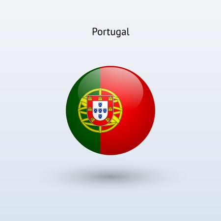 Portugal round flag  Vector illustration  Vector
