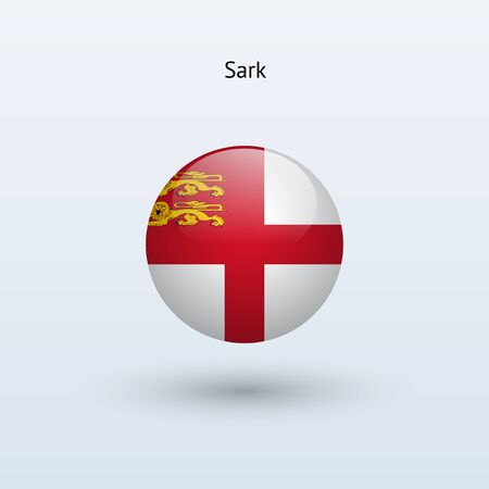 sark: Sark round flag  Vector illustration