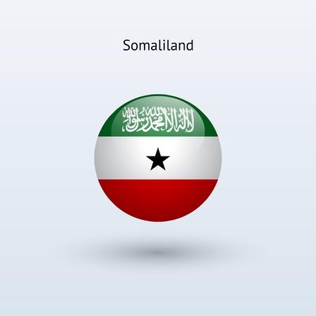 somaliland: Somaliland round flag  Vector illustration