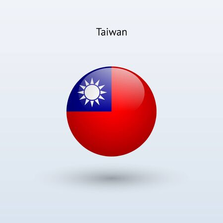 Ronde Taiwan drapeau Vector illustration