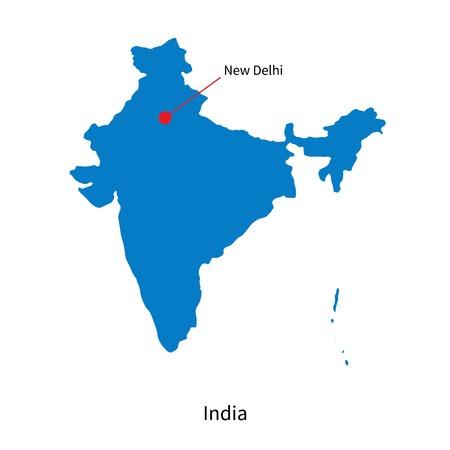 india city: Mappa di India e capitale Nuova Delhi
