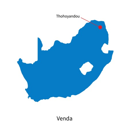 Detailed map of Venda and capital city Thohoyandou