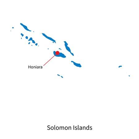 Detailed Vector Map Of Aland Islands And Capital City Mariehamn