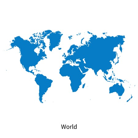 Detailed vector map of World Vector