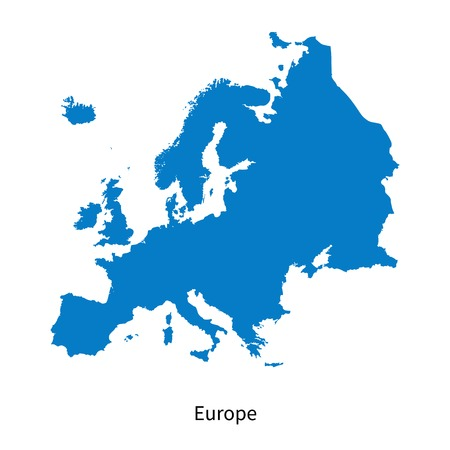 physical: Detailed map of Europe