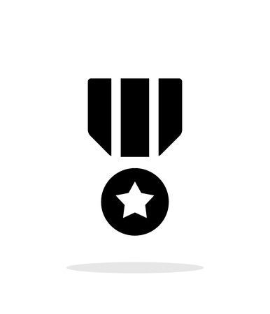 courage: Military medal seample icon.