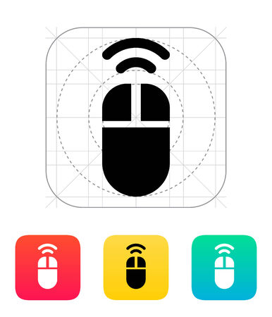Wireless mouse icon. Vector