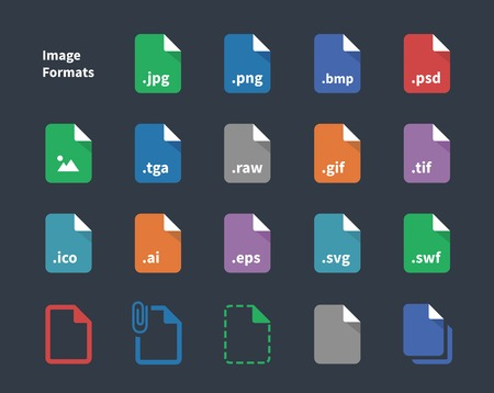 Set of Image File Labels icons. Vector