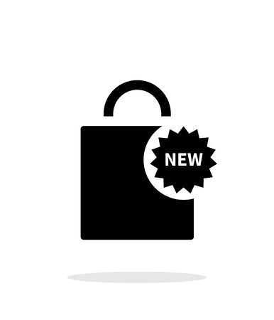 New shopping bag simple icon on white background. Vector