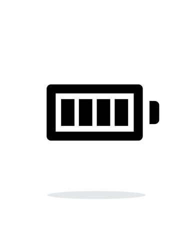 Full charge battery simple icon on white background. Vector