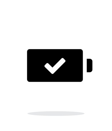 charged: Charged battery simple icon on white background. Illustration