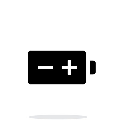polarity: Polarity battery simple icon on white background. Illustration