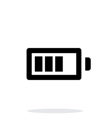 Battery charge simple icon on white background. Vector