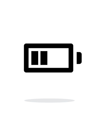 Half charge battery simple icon on white background. Vector