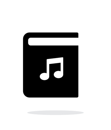 audio book: Audio book simple icon on white background. Illustration