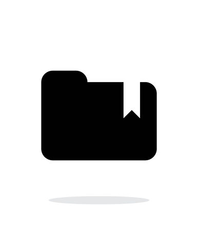 Folder bookmark simple icon on white background. Vector